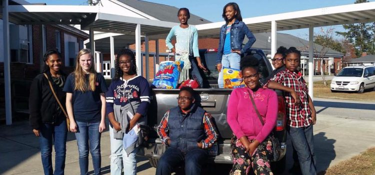 Marlboro School of Discover Collects Food for the Shelter